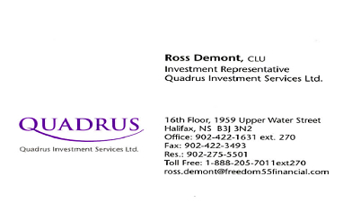 Ross Demont: www.freedom55financial.com
