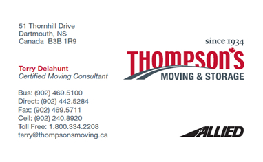 Terry Delahunt: www.thompsonsmoving.ca