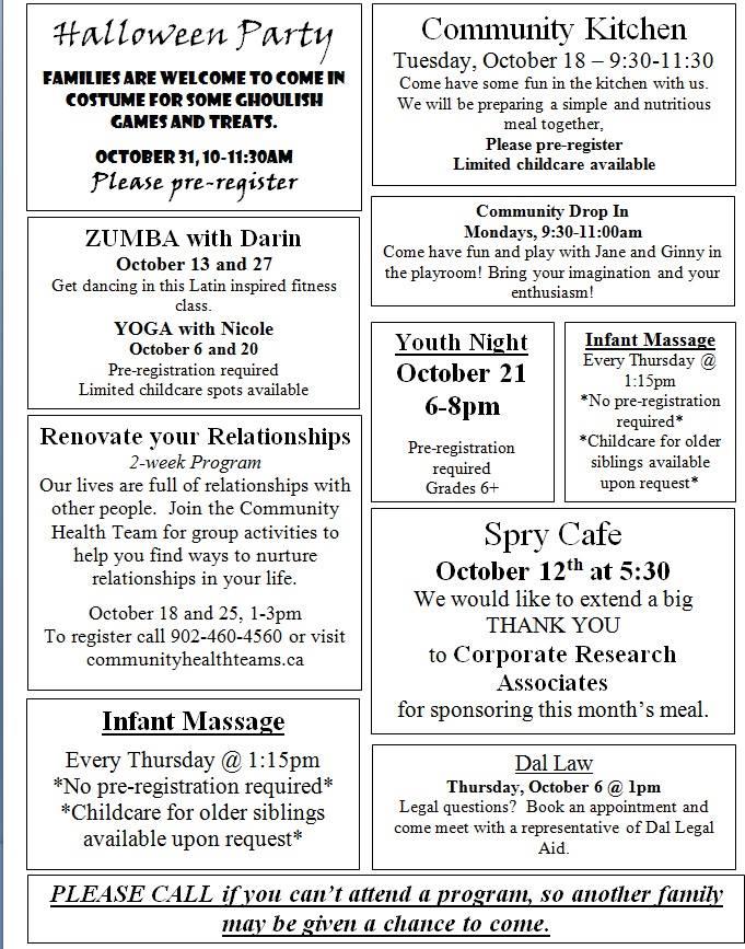 October 2016 Calendar description